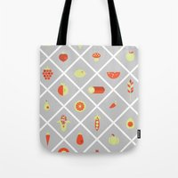 food Tote Bags featuring food. by Monika Traikov