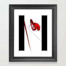 Daredevil Red Framed Art Print