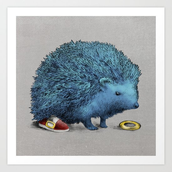 Sonic (color option) Art Print