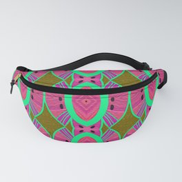 Modern African Boho Textile Watermelon Retro Color Vibe Fanny Pack