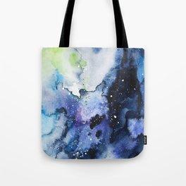 Galaxy Watercolor Tote Bag