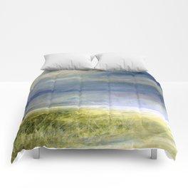 Sea Shore Watercolor Ocean Landscape Nature Art Comforters