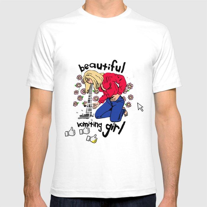 Beautiful Vomiting Girl T-shirt