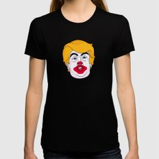 McDonald Trump Black Womens Fitted Tee MEDIUM