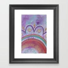 Be Love Framed Art Print