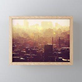 Sunset over Cairo Framed Mini Art Print