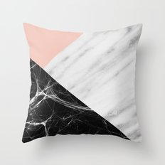 Marble Collage Throw Pillow
