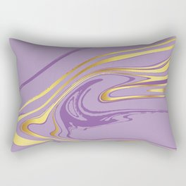 Violet Gold Marble Rectangular Pillow