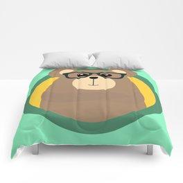 Nerd Brown Bear with cirlce Comforters