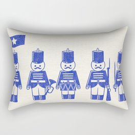 French Army, drawing with letterpress effect, inspired in toy soldiers. Rectangular Pillow