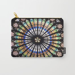 Stained glass cathedral rosette Carry-All Pouch