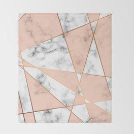 Marble Geometry 050 Throw Blanket