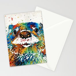 Otter Art - Ottertude - By Sharon Cummings Stationery Cards