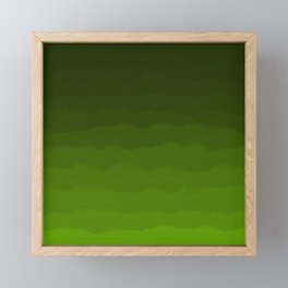 Dark Rich Forest Green Ombre Framed Mini Art Print