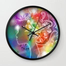 Rosalinde das Blumenmädchen Wall Clock