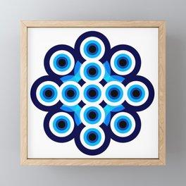 Blue Dot Mod Framed Mini Art Print