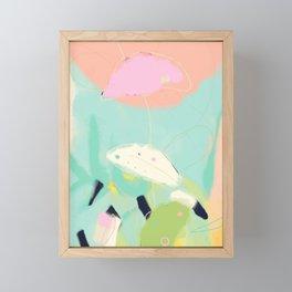minimal floral abstract art Framed Mini Art Print