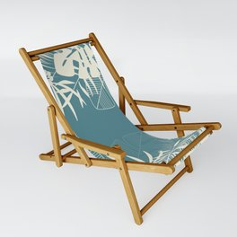 Tropical pattern 047 Sling Chair