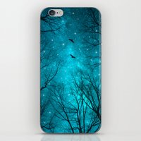 blue iPhone & iPod Skins featuring Stars Can't Shine Without Darkness  by soaring anchor designs