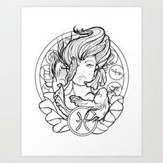 Zodiac Series | Pisces Art Print