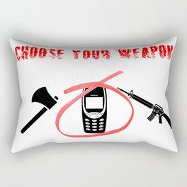 Nokia 3310 // Choose Your Weapon Rectangular Pillow