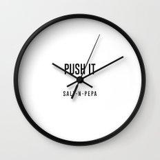 Push it Wall Clock