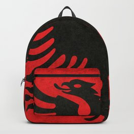 Albanian Flag with Grungy Texture Backpack