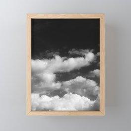 Clouds in black and white Framed Mini Art Print