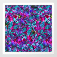 Floral Abstract Stained Glass G279 Art Print