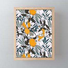 Olives among the orange flowers Framed Mini Art Print