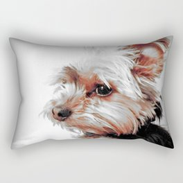 Sad Yorkie | Yorkies | Bad Day, Eh?! | Nadia Bonello Rectangular Pillow