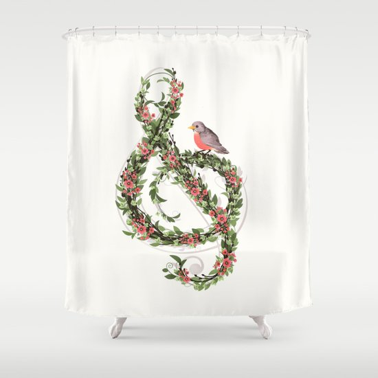 Robin's Song Shower Curtain