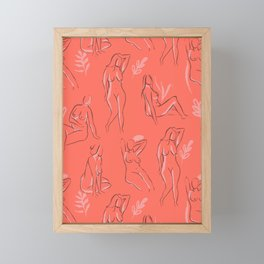 Coral Women Framed Mini Art Print