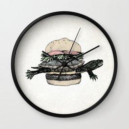 Turtle Sandwich | Desaturated Wall Clock