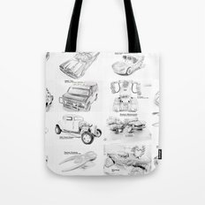 Sketched MovieRepliCars Tote Bag