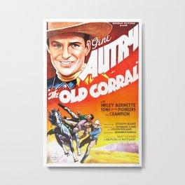 Vintage poster - The Old Corral Metal Print