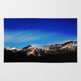 Breaking Dawn in the Canadian Rockies Rug