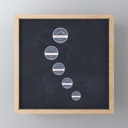 Highest Mountains on Earth Framed Mini Art Print