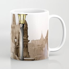 Charles Bridge in medieval city of Prague- Czech Republic. Coffee Mug