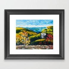 Landscape painting - Autumn dreams - by LiliFlore Framed Art Print