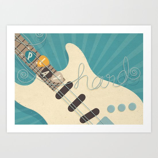 Play Hard Art Print