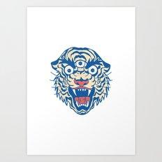 Third Eye Tiger Flash Art Print