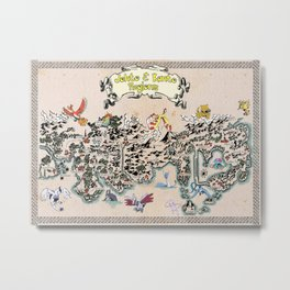pokèmon map kanto and johto Metal Print