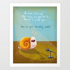 Singing snail Art Print