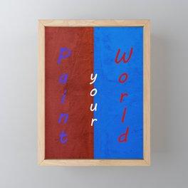 Paint your World Framed Mini Art Print