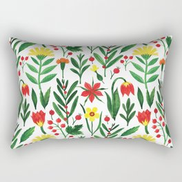 Botanical WaterColor Light #4 Rectangular Pillow