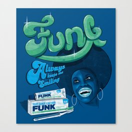 FUNK - ALWAYS KEEPS ME SMILING Canvas Print