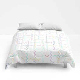 Colorful chevron pattern Comforters