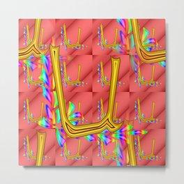 U - pattern 1 Metal Print