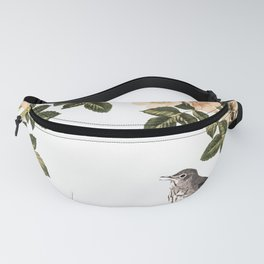 Blackberry Spring Garden - Birds and Bees Cream Flowers Fanny Pack
